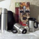 CHEFS BASICS 4 Piece Travel Mug Set Thermos Carry Case