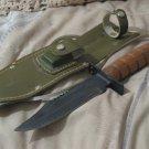 JAPAN Hunting Knife plus Sheath Sharpening Stone Used