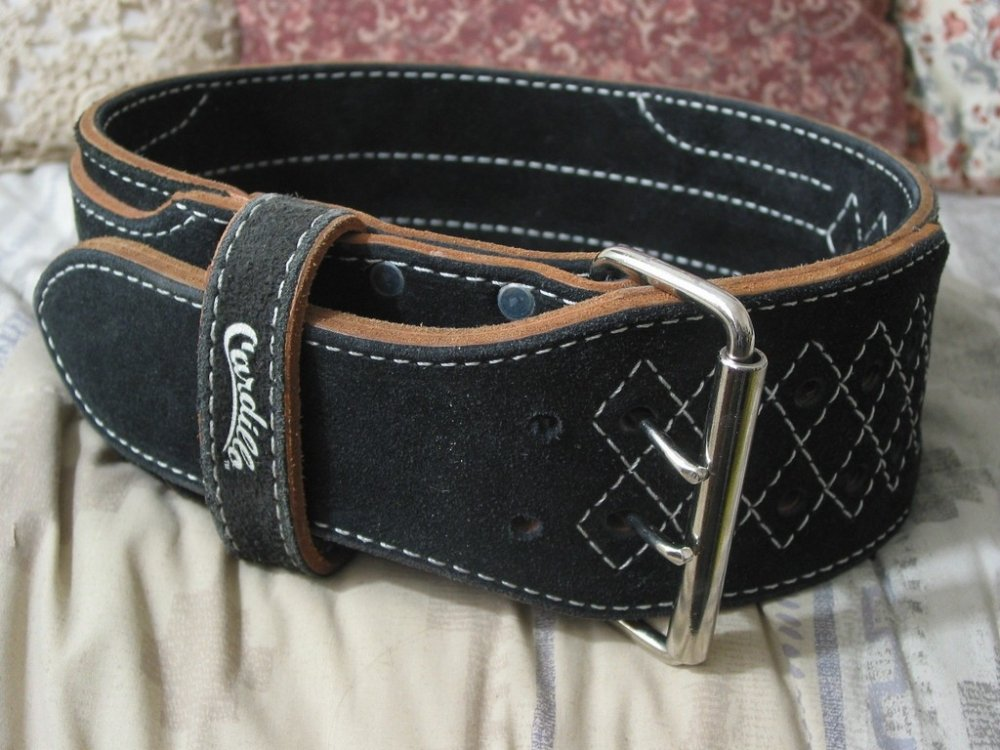 CARDILLO Leather Weight Lifting Back Belt Sz Small Used