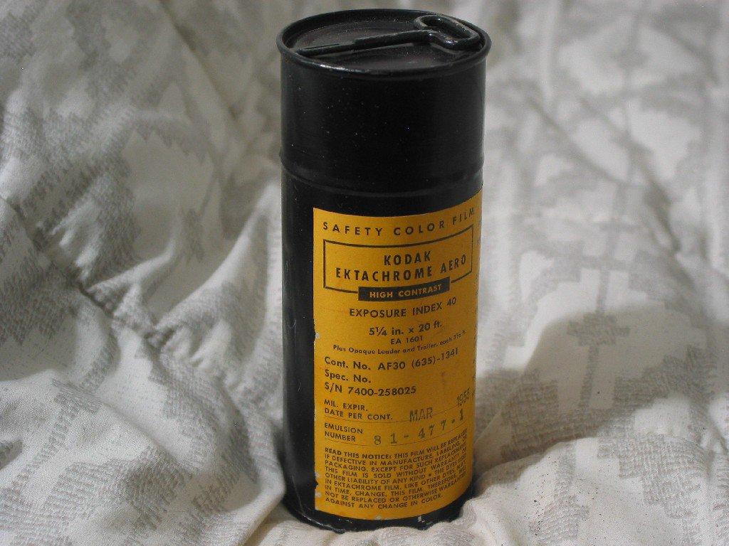 KODAK Ektachrome Aero Color Film Expired March 1955 Can