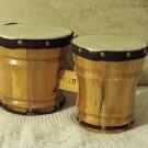 MARK II 2 Small Wooden Wood Bongo Set Used