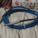 C B I Prism Blue Instrument Cable 10 ft Guitar Cord