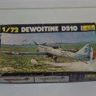 DeWOITINE D510 Military Airplane Model Kit Heller 1/72