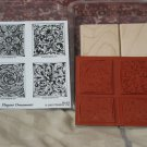 STAMPIN UP Elegant Ornaments Set Of 4 Ink Stamps Unused