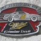 RUSTY WALLACE 1992 Miller Beer Nascar Belt Buckle Used