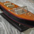 SPEED BOAT Small Wood Wooden Display Model on Stand