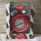 COCA COLA Twin Bell Quartz Alarm Clock Coke Used