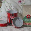 COCA COLA Puzzle 6 Coaster Set Coke Can Unused 1995