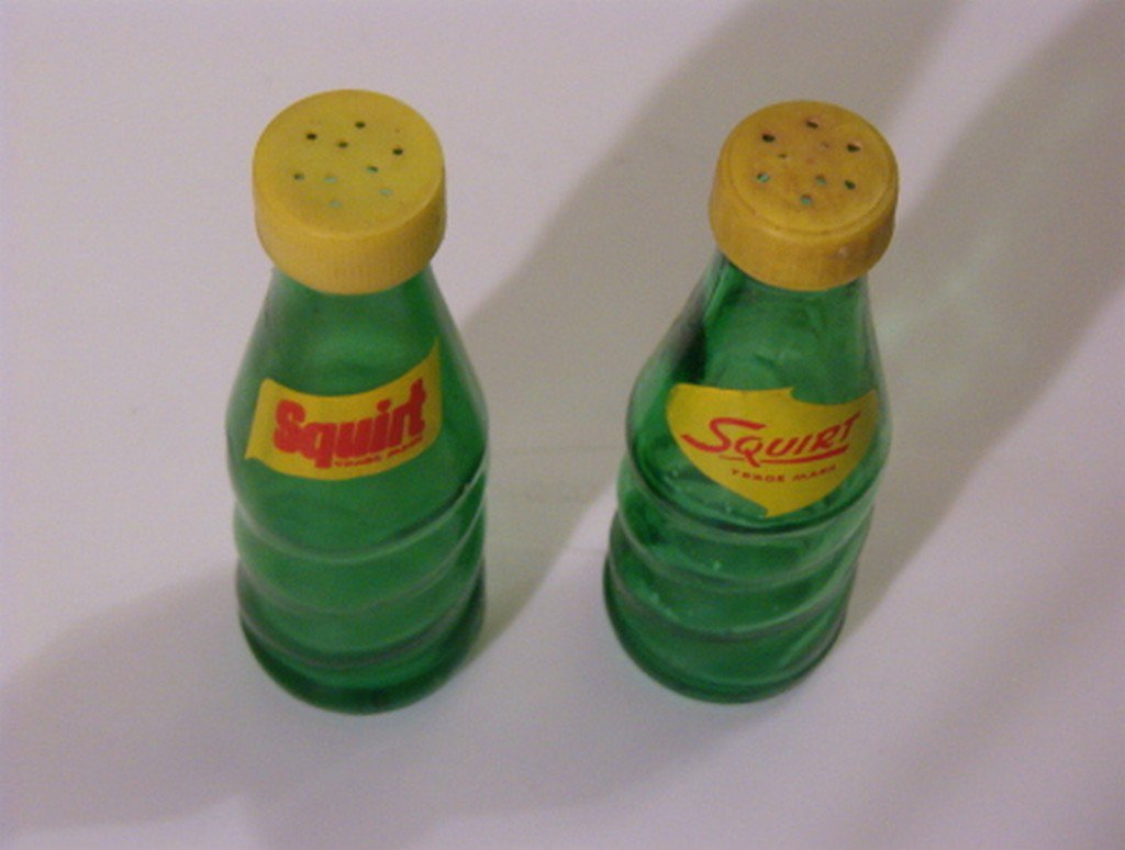SQUIRT SODA 2 Bottle Salt and Pepper Shakers
