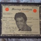 ELVIS PRESLEY Las Vegas Souvenir Marriage Certificate