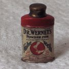 Dr Doctor Wernets False Teeth Powder Bottle Vintage