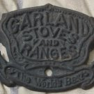 GARLAND STOVES Cast Iron Range Stove Emblem Antique