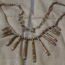 SRA Sterling Silver Necklace Plus Inlaid Pendants 20in