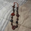WOOD Look Necklace Plastic Costume Jewelry Used