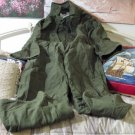 US MILITARY Green Overalls Coveralls Size Small Used