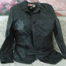 JEAN PIERRE Mid Length Leather Jacket Coat Size 42 Used