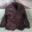 RAFFAELO Burgundy Red Brown Leather Jacket Coat Size 44