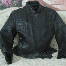 Wilsons Black Leather Motorcycle Jacket Coat Sz 42 Used