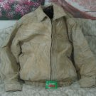 WILSONS Beige Patchwork Suede Leather Jacket Sz M