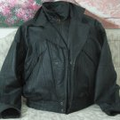 WILSONS Black Leather Motorcycle Jacket Coat Sz Lg Used