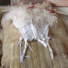 FREDERICKS of HOLLYWOOD White Corset Bustier Sz 34 Used
