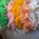 FEATHER BOAS Lot of 5 Assorted Colors 5 ft Long 2105
