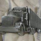 BIG RIG TRUCK Tractor Trailer Belt Buckle 1980 Damaged
