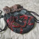 WOMENS Beaded Decorated Small Evening Purse Handbag