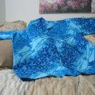 SLADE'S Hawaiian Shirt Blue Tones Size XL