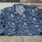 HILO HATTIES Original Hawaiian Shirt Size XL Dark Blue
