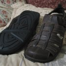 CHEROKEE Brown Leather Sandals Size 12 Unused