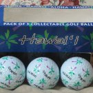 GOLF BALLS Aloha Hawaii Pack Of 3 Collectable Souvenirs