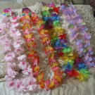 LEI's 4 Colorful Silk Flower Pedal Party Necklace 36in