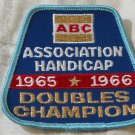 ABC BOWLING PATCH Doubles Champion 1965 1966 Season