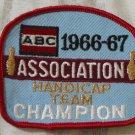 ABC BOWLING PATCH Handicap Champion 1966 1967 Season