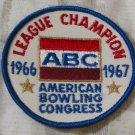 ABC BOWLING PATCH League Champion 1966 1967 Season