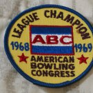 ABC BOWLING PATCH League Champion 1968 1969 Season