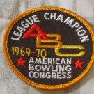 ABC BOWLING PATCH League Champion 1969 1970 Season