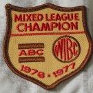 ABC WIBC Mixed League Champion Bowling Patch 1976 77