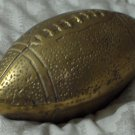 BRASS FOOTBALL Office Paperweight Desk Accessory Used