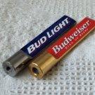 2 Small Beer Keg Tap Handles 1 Budweiser & 1 Bud Light