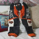 FX Motocross Motorcycle Racing Pants Orange Teen Sz 28 Used