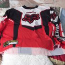 FX Motocross Motorcycle Racing Shirt Red White Black Size Large