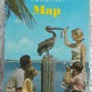 ROAD MAP 1966 Florida State Road Department Vacation Spots And Highway Routes