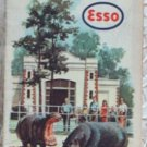 ROAD MAP 1962 Esso Interstate Highway Routes Tennessee Kentucky States