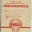 ROAD MAP 1954 Shell Indianapolis City Street Guide And Metropolitan Area
