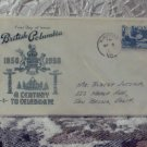 First Day Issue Cover Stamp British Columbia 1958 Canada 5c