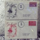 2 - 2nd Annual First Day Convention Covers 1957