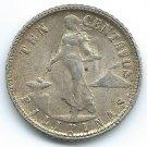 COIN MONEY Philippines 1945 10 Centavos Silver