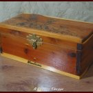 WOOD BOX Montana Jewelry Knick Knack Keepsake Storage  8 1/4  X 4 1/ 4 X 3 3/8